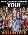 Volunteer Community Needs You Poster